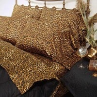 Scent-Sation 300 Thread Count Wild Life Leopard Sheet Set - 100TCBWLXLEOP - Pillowcases - Bed & Bath