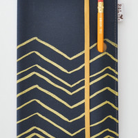 Navy Chevron Notebook - Large