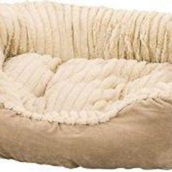 DCCKU7Q Ethical Sleep Zone 21' Tan Plush Bed Carved