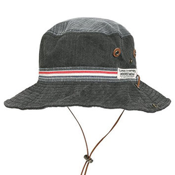 ililily Vintage Washed Cotton Hunting Fishing Camping Outdoor Boonie Bucket Hat (fedora-606-4)