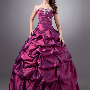 2016 New Ball Gown Purple Vintage 1950 1960 Taffeta Colorful Non Tranditional  Wedding Dresses with Color vestidos de noiva
