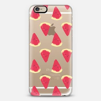 WATERMELON - CRYSTAL CLEAR PHONE CASE iPhone 6 case by Nika Martinez | Casetify