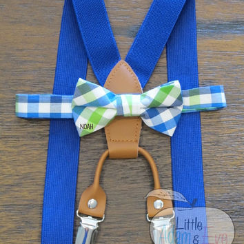 Bow Tie and Suspender Set , BowTie suspenders, Bow Tie and Suspenders, Suspenders with a Boy Tie For Boy