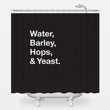 Beer Ingredients Shower Curtain