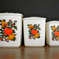 Vintage Kitchen Canisters Retro Kitchen Canisters Jars Mid Century