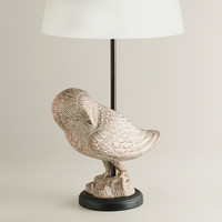 Snow Owl Table Lamp Base - World Market