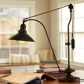 Glendale Pulley Task Table Lamp