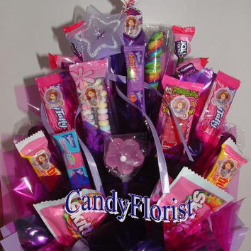 SOFIA the FIRSt Candy Bouquet Centerpiece w/ Edible Party Favors or an Elegant, Royal Gift! a READY-2-GO Item! an OOAk at a Discounted Deal!
