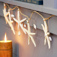 Rope Garland with Starfish & Shells