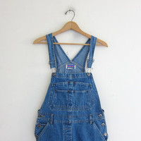 90s Bib Overalls jean shorts. bibs shorts. Women's dungarees. size S