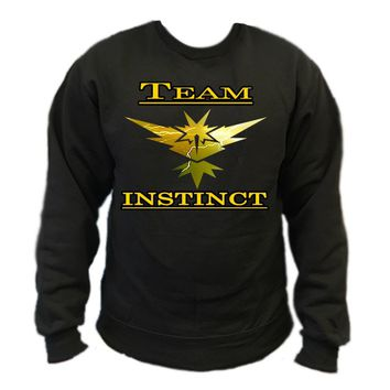 Pokemon Go Team Instinct: Lightning Crewneck Sweatshirt
