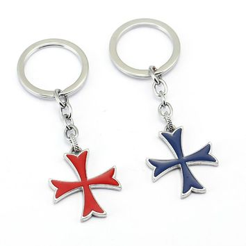 Assassins Creed Keychain Car Key Chain Assassin's Creed Cross Key Ring Holder Chaveiro Pendant Jewelry Souvenir YS12024