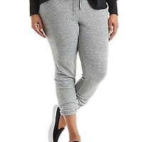 PLUS SIZE KNIT DRAWSTRING JOGGER PANTS