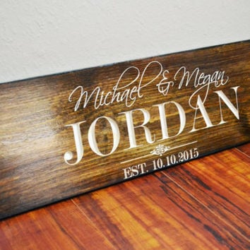 personalized last name signs family from bravood wood design