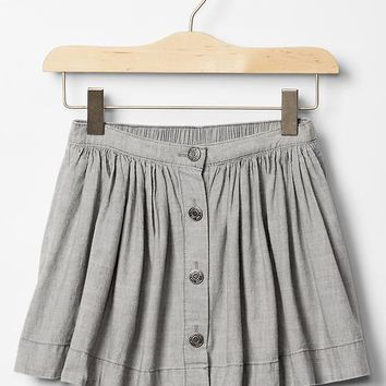Gap Girls 1969 Chambray Circle Skirt