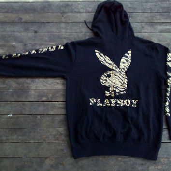 Play Boy sweater Hoodie Gold Big Logo vintage