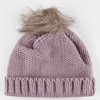 Fur Pom Beanie Purple One Size For Women 26429075001
