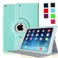 Fintie Apple iPad Air (iPad 5) Ultra Slim 360 Degree Rotating Case Cover with Hard Shell Auto Sleep / Wake Feature - Blue