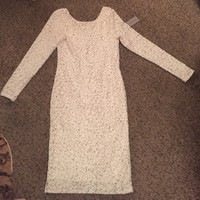 NWT Jennifer Lopez white and gold dress