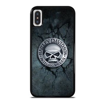 HARLEY DAVIDSON MOTORCYCLE SKULL iPhone X Case Cover