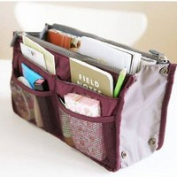 So Beauty 1pcs Women Travel Insert Handbag Organiser Purse Large Liner Organizer Tidy Bag: Amazon.ca: Beauty