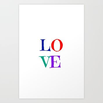 LOVE Art Print by Love from Sophie