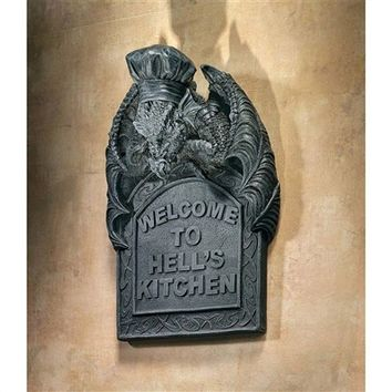 SheilaShrubs.com: Hell's Kitchen Sculptural Dragon Wall Plaque CL4737 by Design Toscano: Wall Mounts