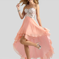 Sweetheart Beaded Top Formal Prom Dress Clarisse 2317