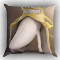 Banana Flasher  X0341 Zippered Pillows  Covers 16x16, 18x18, 20x20 Inches