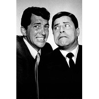 Dean Martin Jerry Lewis poster Metal Sign Wall Art 8in x 12in Black and White