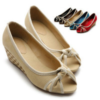 ollio Womens Shoes Ballet Flats Loafers Casual Comfort Mid Heels Multi Colored