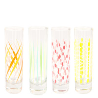 Fishs Eddy Set of Four Party Glasses | Glassware by Fishs Eddy | Liberty.co.uk