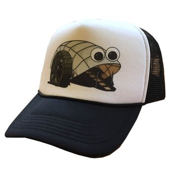 Mr. Trash Wheel (White w/ Black Mesh) / Trucker Hat