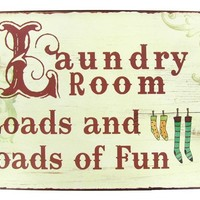 "14"" Laundry Room Tin Sign 