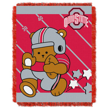 Ohio State  College Baby 36x46 Triple Woven Jacquard Throw - Fullback Series