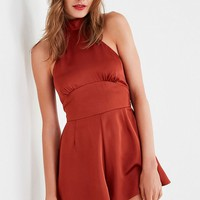 Finders Keepers Afterglow Halter Romper | Urban Outfitters