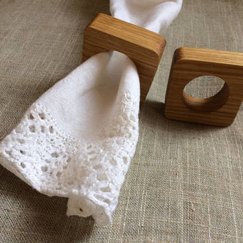 50 Smooth Oak Wood Napkin Ring Holder, Wedding Napkin Rings, Wood Napkin Ring Holder, DIY Wooden Napkin Rings, Table Setting Decor