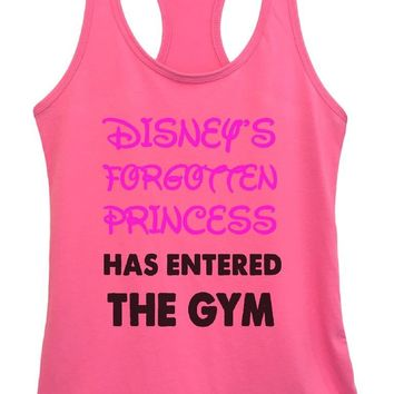 Womens DISNEY'S FORGOTTEN PRINCESS HAS ENTERED THE GYM Grapahic Design Fitted Tank Top