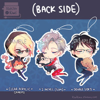 Yuri!!! on Ice Charms Keychain 2 inch Double-sided Clear Acrylic (PRE-ORDER)