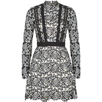 Self-Portrait Antoinette Lace Mini Dress | Harrods.com