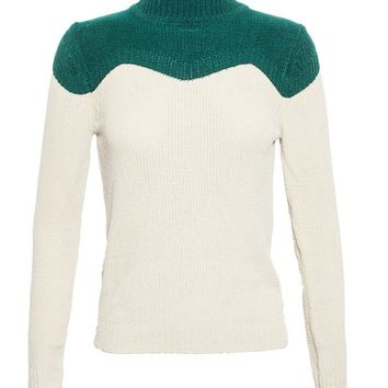 High Neck Colour Block Knit - J.W.ANDERSON