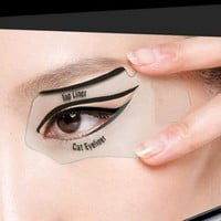 New Beauty Makeup Painting Eye Liner Card Cat Eyeliner Auxiliary Tool Gift