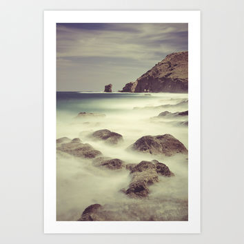 Water. Volcanic rocks. Art Print by Guido Montañés
