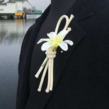 Nautical Lapel Knot Braided Cord Overhand Knot Boutonniere