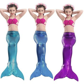 Mermaid Tail Costumes The Little Mermaid Costume For Girl  Cosplay Clothes Mermaid Tails For Swimming
