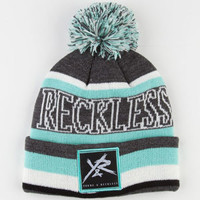 YOUNG & RECKLESS Block Stripe Beanie