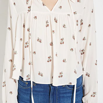Contemporary Floral Blouse   Forever 21 - 2000185175