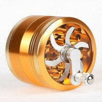 Newest 4 Layers Aluminum Alloy Tobacco weed herb hand Grinder Diameter 63MM for Weed Smoke Tobacco Crusher