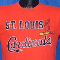 80s St. Louis Cardinals Cursive Logo t-shirt Small