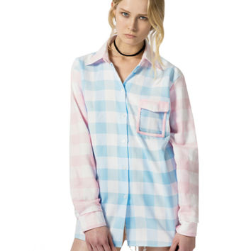 PASTEL PLAID SHIRT